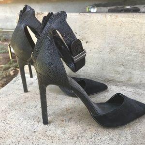 Black skinny heels